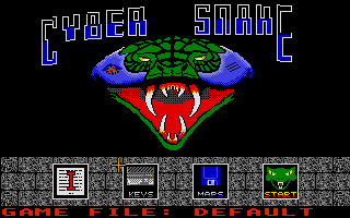 Cyber Snake Atari ST Title screen with main menu