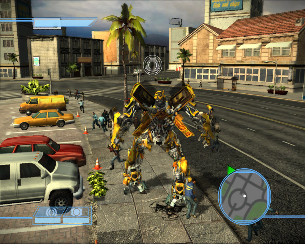 Transformers: The Game Windows You can't crush those people
