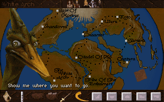 Lost Eden DOS The entire world map