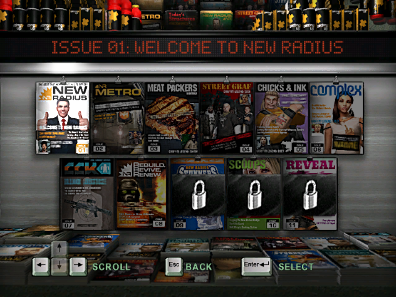 Marc Ecko's Getting Up: Contents Under Pressure Windows Quick game select.