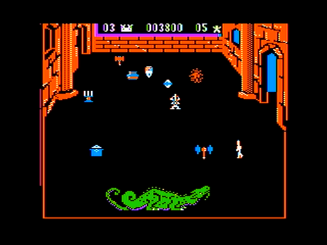 Dragonfire Apple II A pesky knight guards the treasure as well as a dragon!
