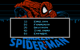The Amazing Spider-Man Atari ST Language selection
