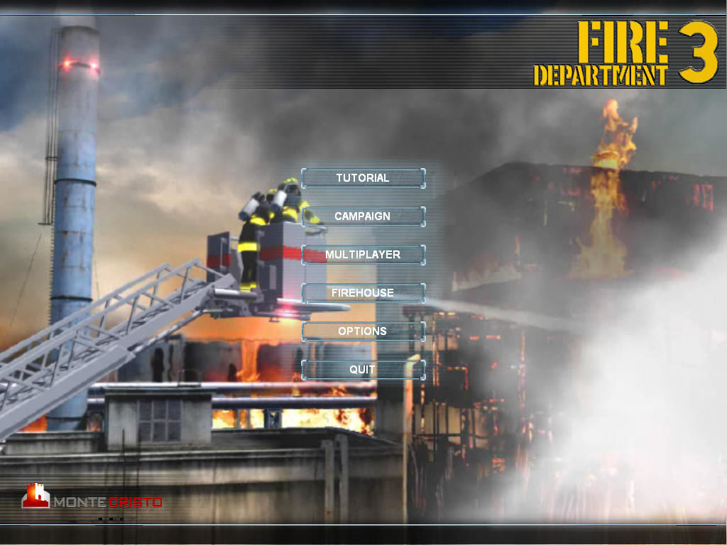 Fire Department: Episode 3 Windows The main menu