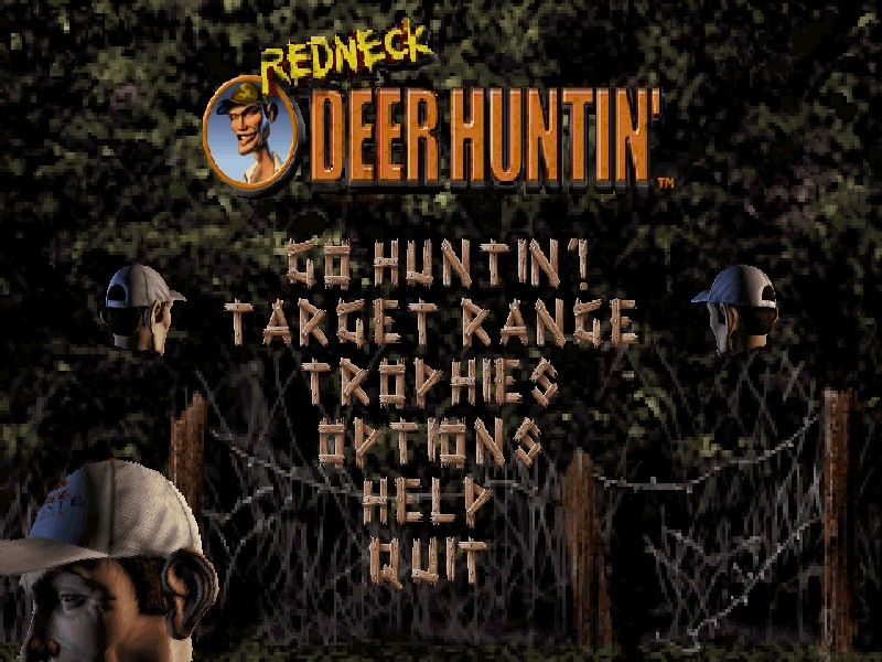 Redneck Deer Huntin' Windows The main menu