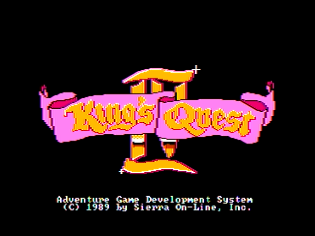 King's Quest IV: The Perils of Rosella Apple II Title screen