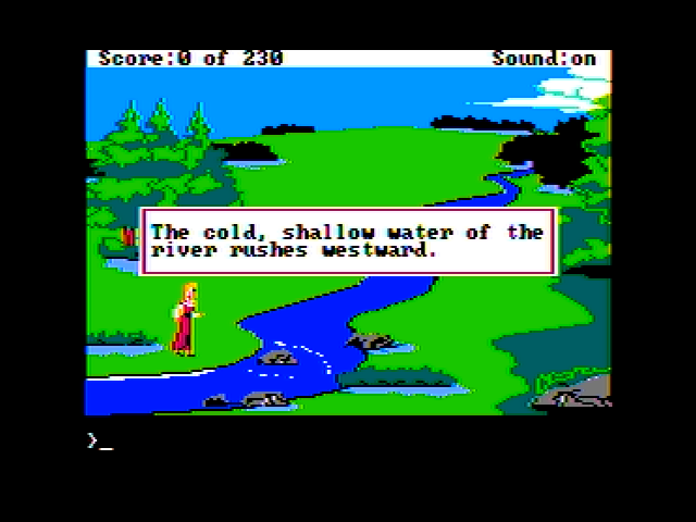 King's Quest IV: The Perils of Rosella Apple II Brief scene description