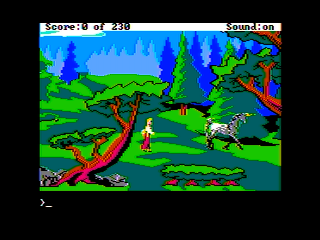 King's Quest IV: The Perils of Rosella Apple II I found a unicorn!