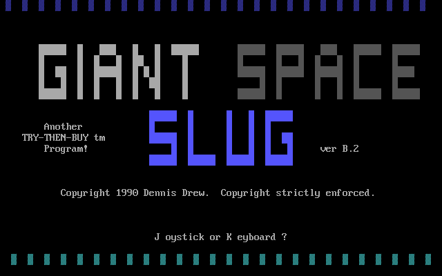 Giant Space Slug DOS Title screen.