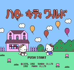 Hello Kitty World NES Title screen