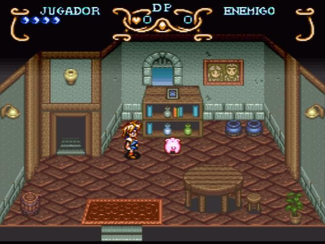 Illusion of Gaia SNES Kara's pig, Hamlet
