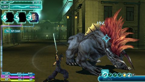 Crisis Core: Final Fantasy VII PSP 1st boss fight