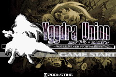 Yggdra Union: We'll Never Fight Alone Game Boy Advance Japanese title screen