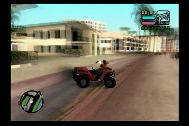Grand Theft Auto: Vice City Stories PlayStation 2 An ATV for tearing up some people's yards.