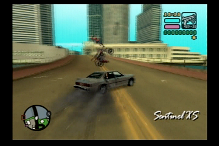 Grand Theft Auto: Vice City Stories PlayStation 2 This is why motorcyclists should wear helmets.