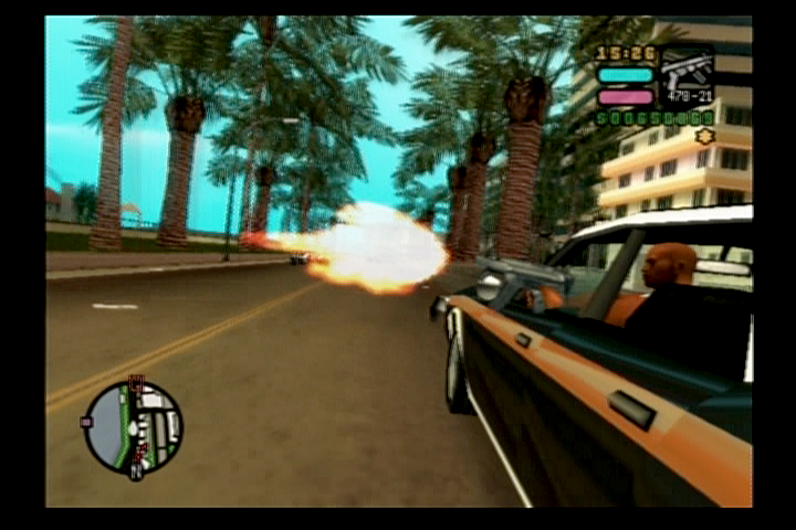 Grand Theft Auto: Vice City Stories PlayStation 2 The usual drive-by.