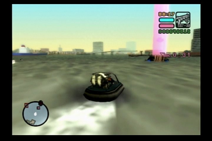 Grand Theft Auto: Vice City Stories PlayStation 2 A hovercraft race!