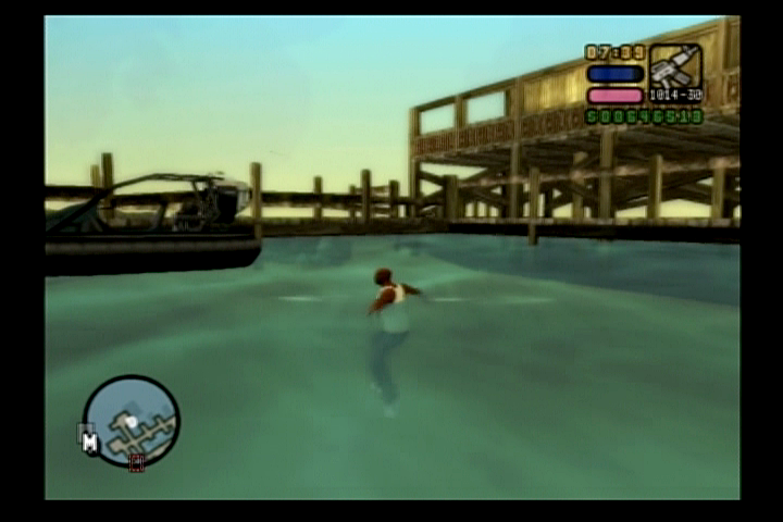 Grand Theft Auto: Vice City Stories PlayStation 2 Vic can actually swim which comes in handy.