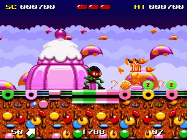 Zool SNES Lots of things to eat