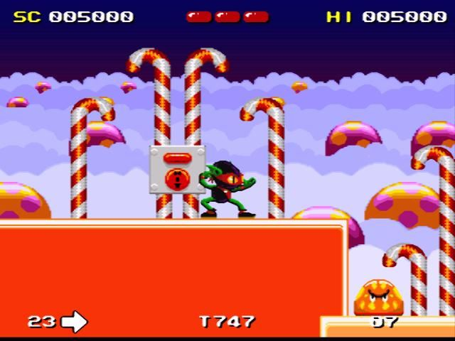 Zool SNES This jelly will be history in no time