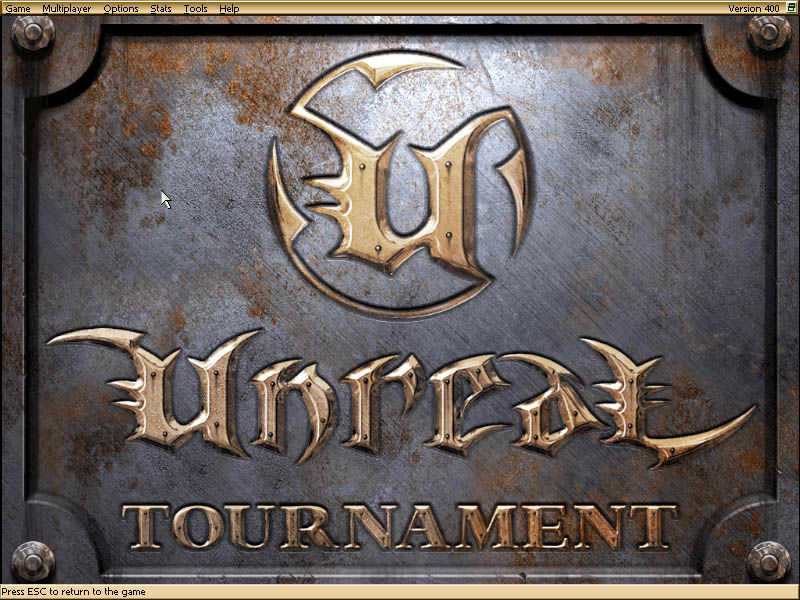 Unreal Tournament Windows Main menu