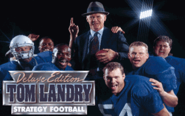 Tom Landry Strategy Football Deluxe Edition DOS Title screen.