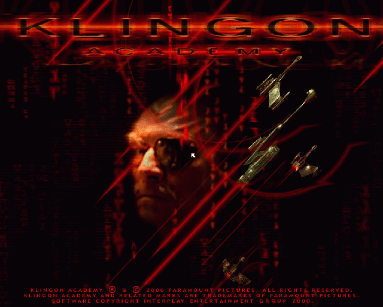 Star Trek: Klingon Academy Windows Title screen