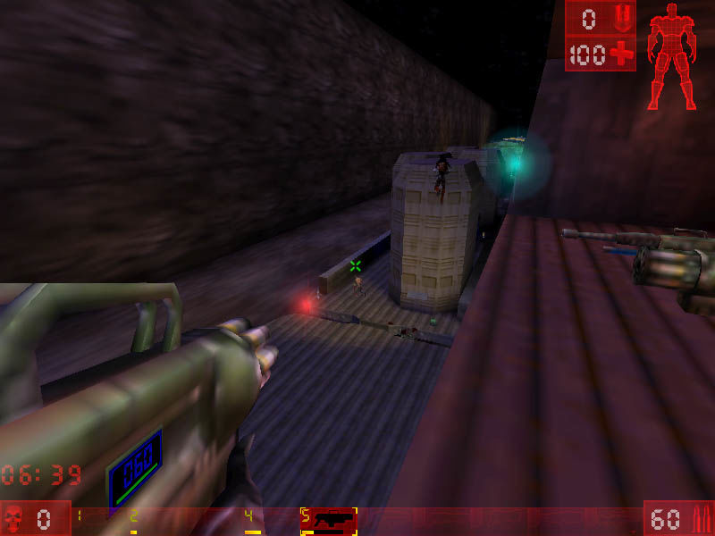 Unreal Tournament Windows Attacking the train.