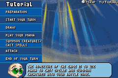 Duel Masters Sempai Legends Game Boy Advance A tutorial explains every aspect of the Duel Masters trading card game.