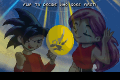 Duel Masters Sempai Legends Game Boy Advance Flip a coin to decide which player begins.