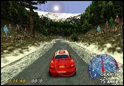 V-Rally Edition 99 Nintendo 64 Single player in time trial mode