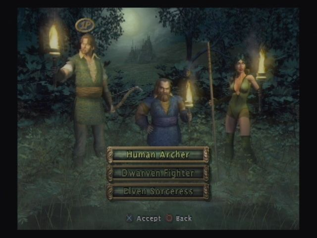 Baldur's Gate: Dark Alliance PlayStation 2 Heroic Trio. You choices in Dark Alliance are somewhat limited as classes and races are pre-assigned.