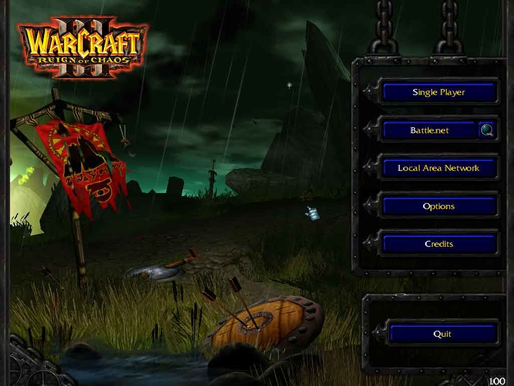 WarCraft III: Reign of Chaos Windows Main Menu