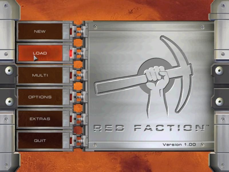 Red Faction Windows Main menu