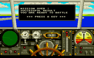 Advanced Destroyer Simulator Atari ST Mission complete