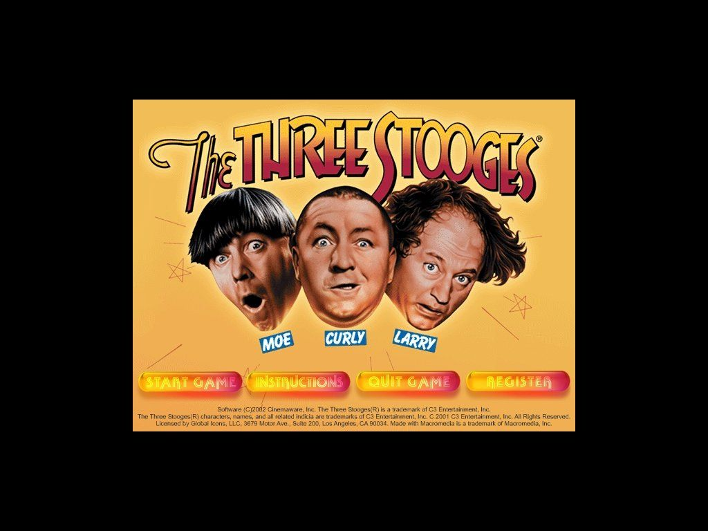 The Three Stooges: Digitally Remastered Edition Windows Main menu