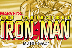 The Invincible Iron Man Game Boy Advance Title screen
