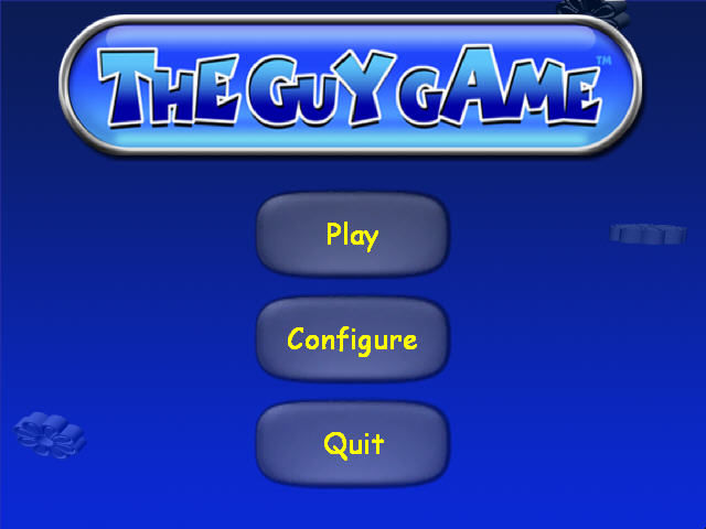The Guy Game Windows Start-up menu