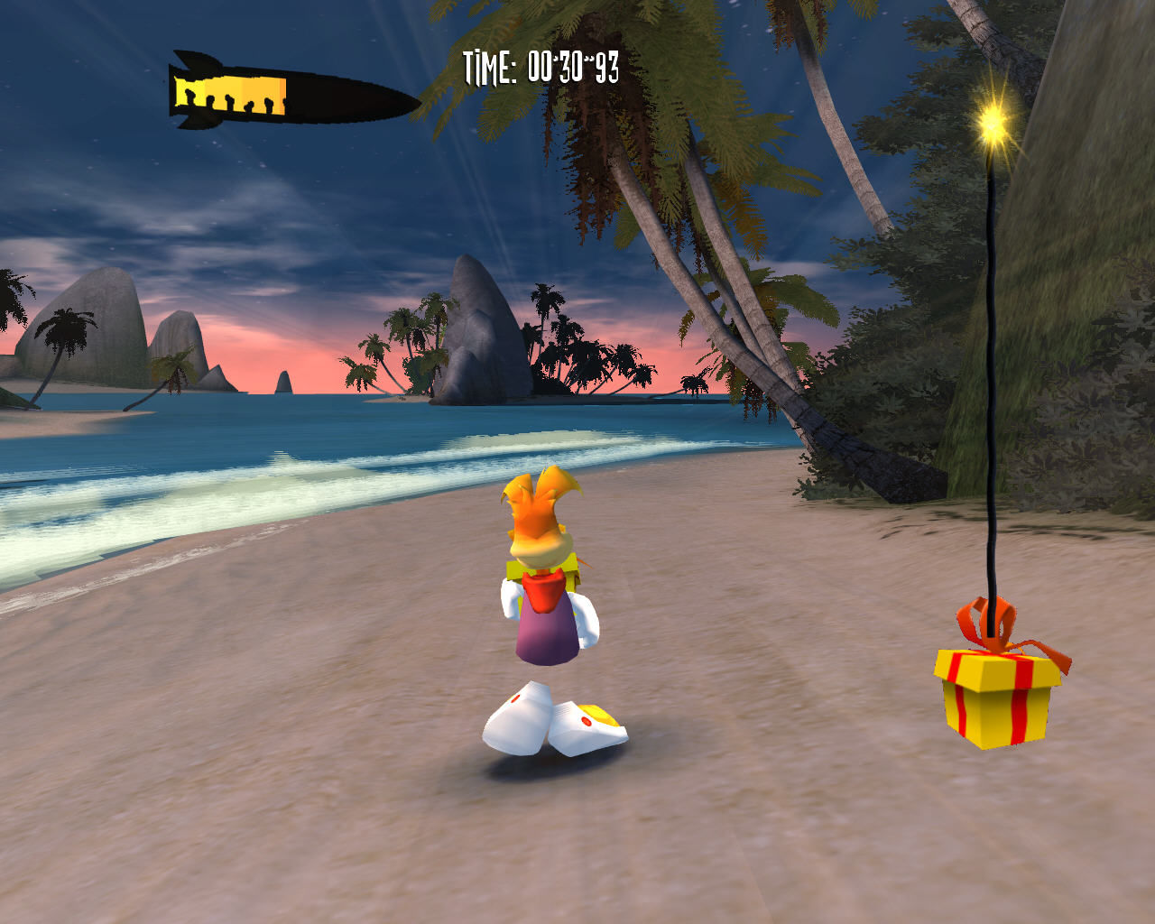 Rayman Raving Rabbids Windows Return that present before it blows up.
