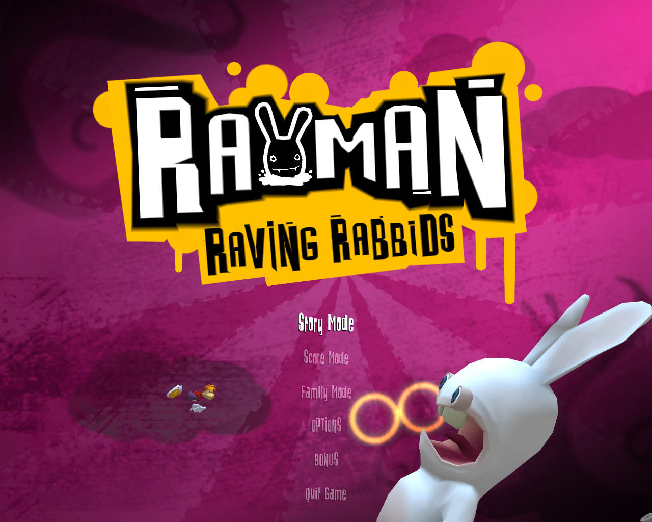 Rayman Raving Rabbids Windows Main menu