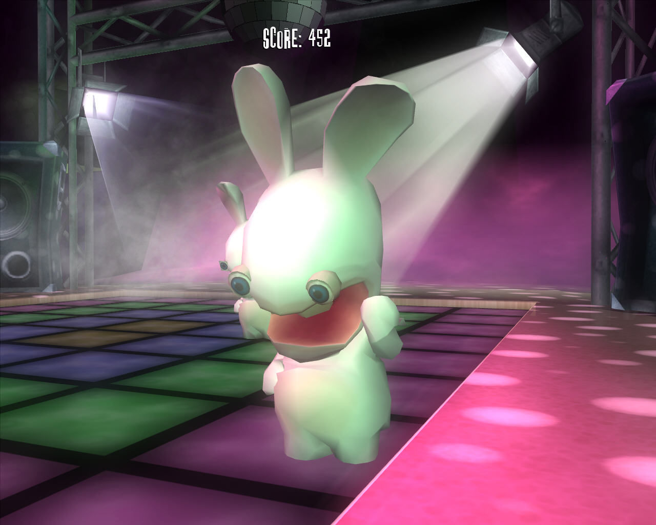 Rayman Raving Rabbids Windows Rabbid having fun.