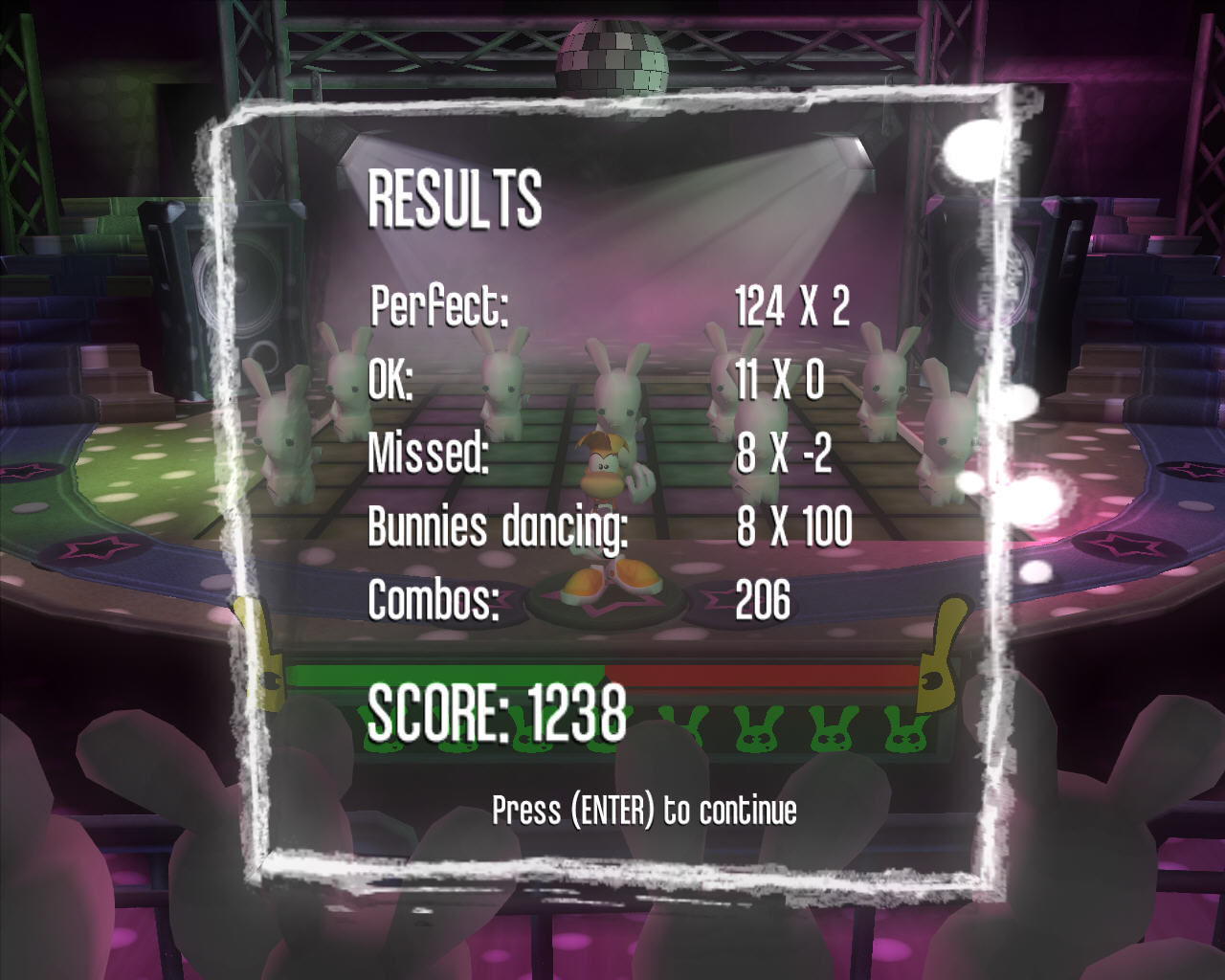 Rayman Raving Rabbids Windows The dance results are in.