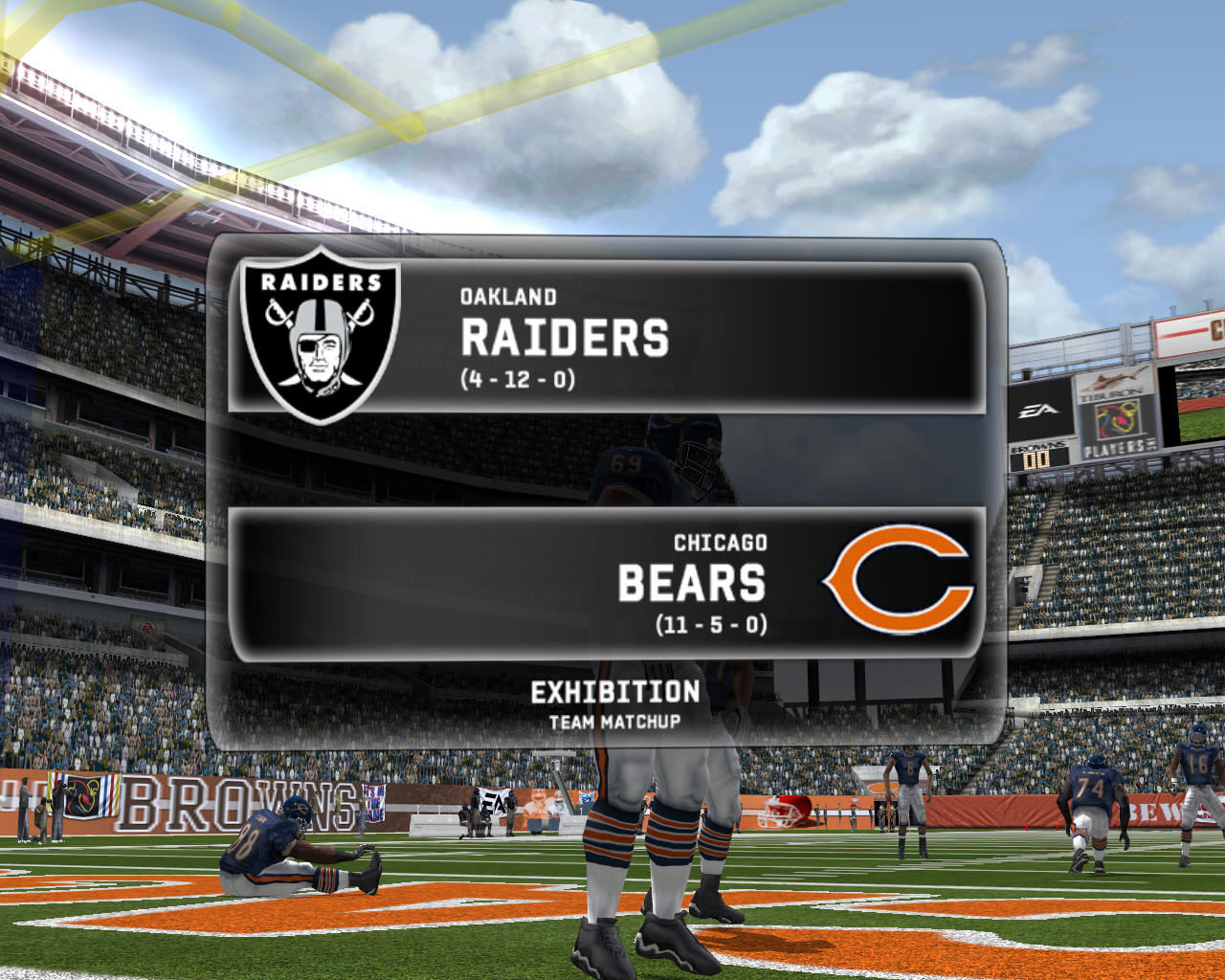 Madden NFL 07 Windows Oakland Raiders vs. Chicago Bears