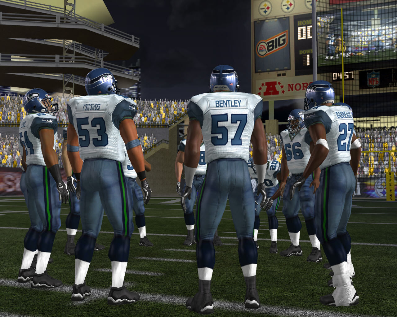 Madden NFL 07 Windows Players in a circle
