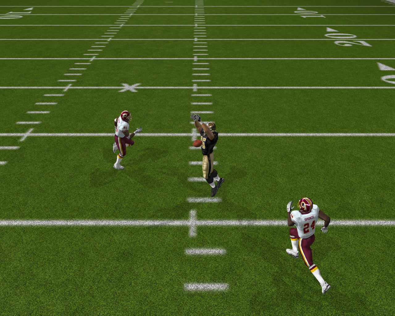 Madden NFL 07 Windows Player fails to catch the ball.