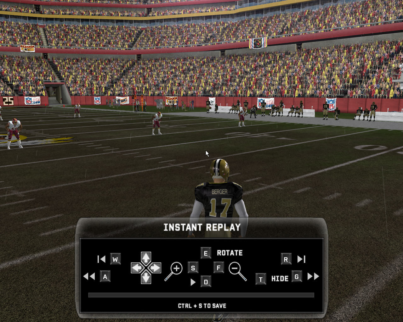 Madden NFL 07 Windows Instant replay mode