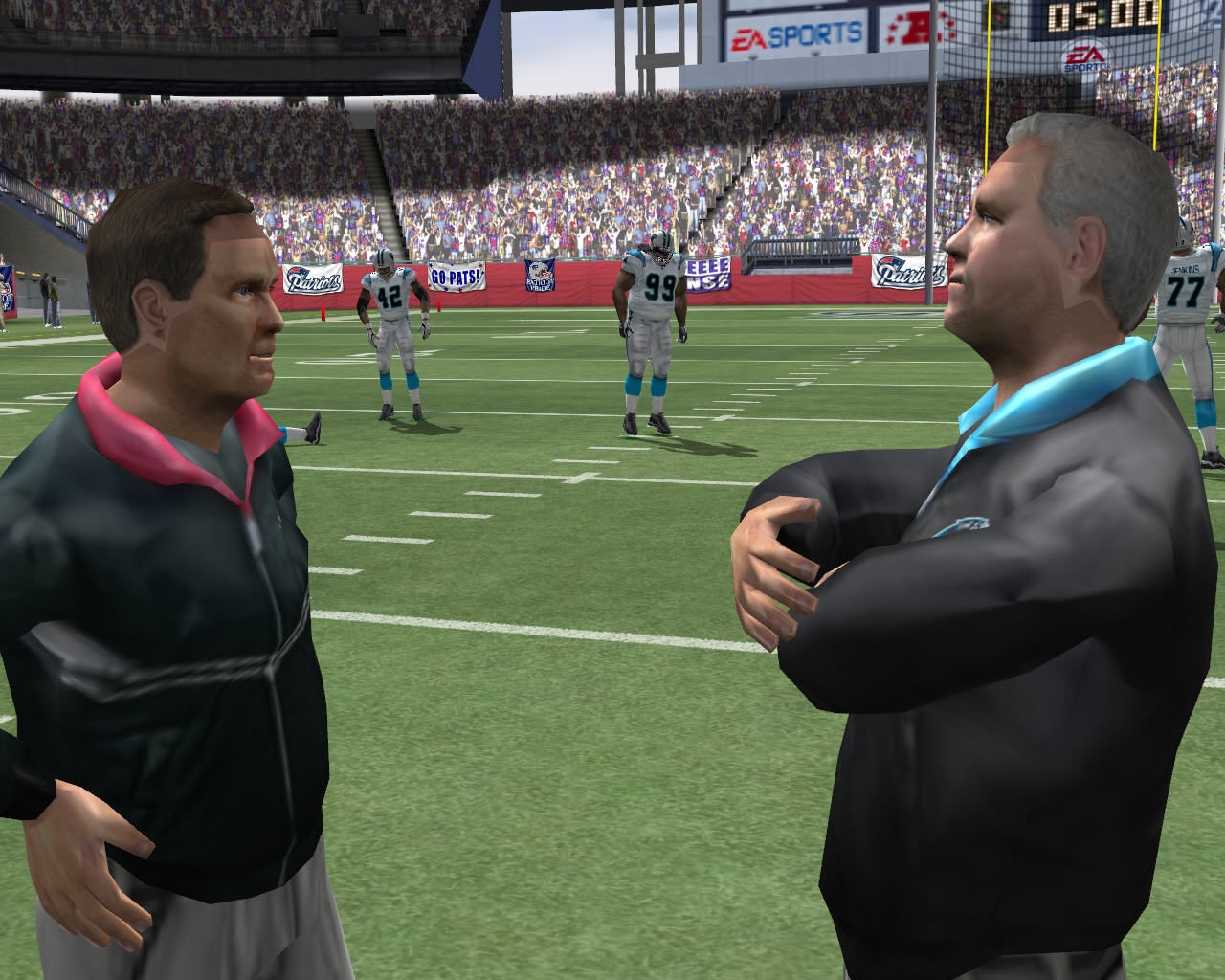 Madden NFL 2005 Windows Coaches talking.