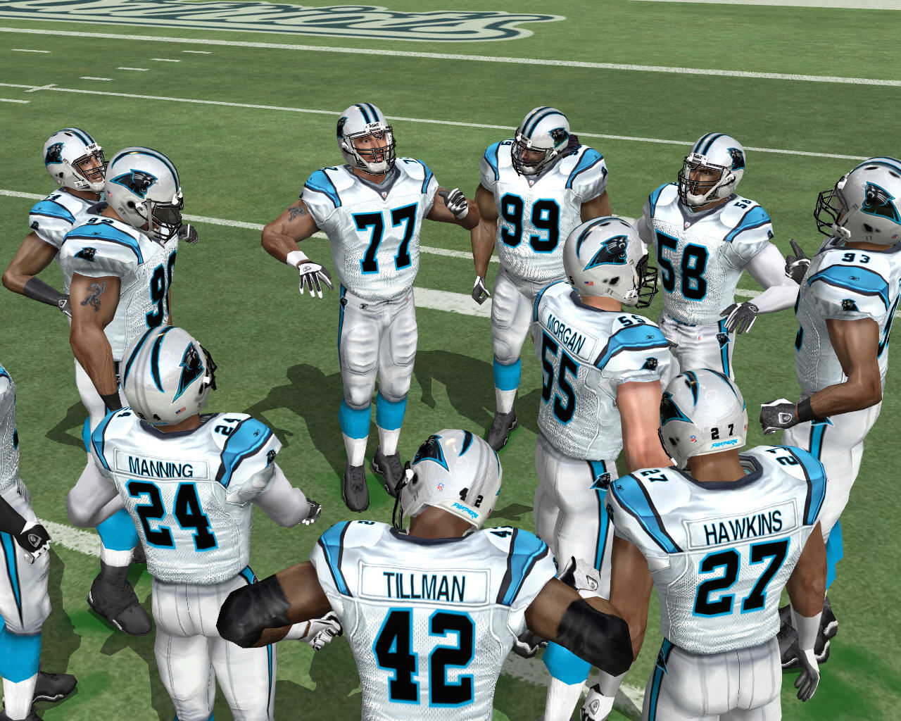 Madden NFL 2005 Windows Team getting ready for the opening kick.