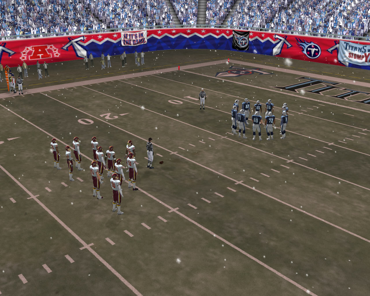 Madden NFL 2005 Windows Two teams on the field