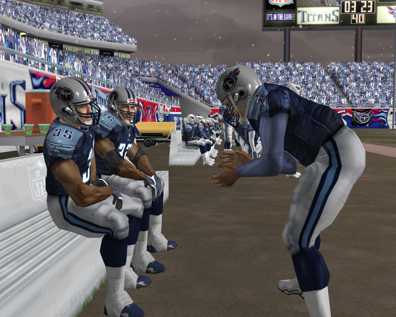 Madden NFL 2005 Windows A player acting as coach.