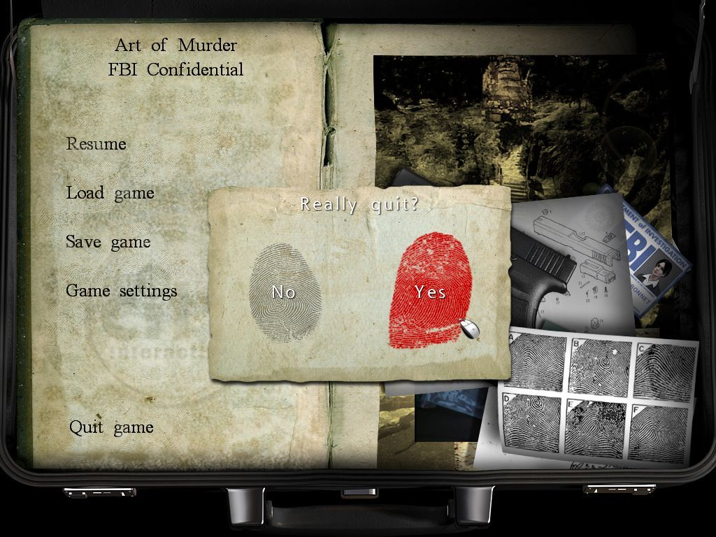 Art of Murder: FBI Confidential Windows Quit game